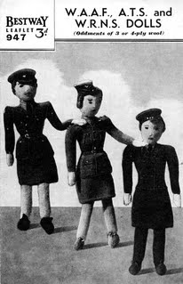 Bestway 947 Knitted WAAF dolls